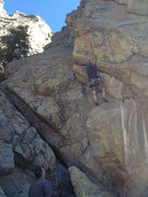 Rock Climbing Photo: On the lower section.
