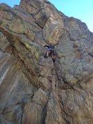 Rock Climbing Photo: A little less than halfway up.
