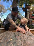 Rock Climbing Photo: Teaching the future to climb on things