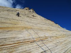 Rock Climbing Photo: Matt Reed on the easy but delightful slabs of Led ...