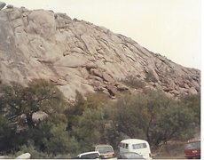 Rock Climbing Photo: View from the parking lot BITD, Russel Hooper's Ch...