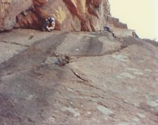 Rock Climbing Photo: Barritt on the Dihedral, unknown on the Flying Nun
