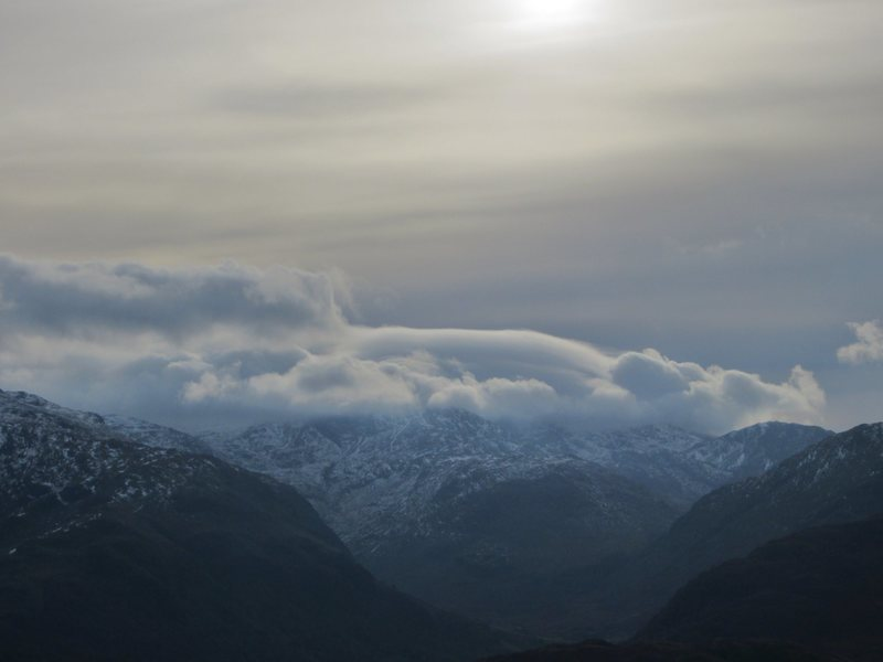 Storm clouds over Scawfell range
