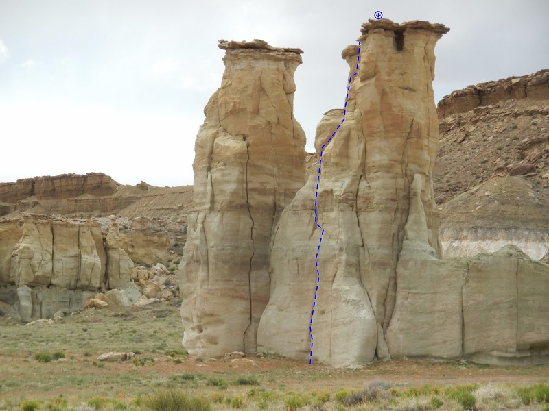 Rock Climbing Photo: Northern Groomsman Topo