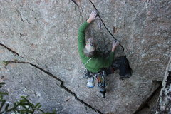 Rock Climbing Photo: On the first Accent of Hallelujah 5.8