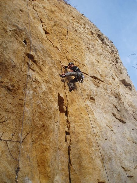 Rock Climbing Photo: Jim Tangen-Foster on Relentless.