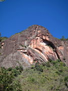 Rock Climbing Photo: Orange Sky, left side