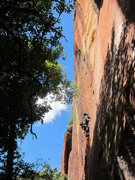 Rock Climbing Photo: Emma pulling through the lower bit, Clam Digger in...