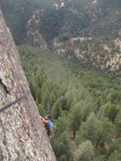 Rock Climbing Photo: Kendrick C. comes up on second cleaning the North ...