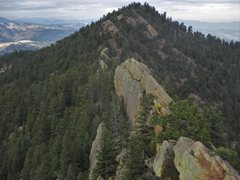 Rock Climbing Photo: The broad, vertical face of the upper tier of &#39...