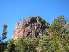 Rock Climbing Photo: Tower left of the saddle, no established routes
