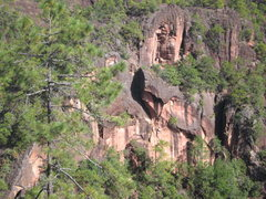 Rock Climbing Photo: Between Old Dragon and the Watchtower, not much wo...