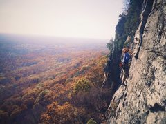 Rock Climbing Photo: David Burnette leading pitch 2 of Snooky's Ret...