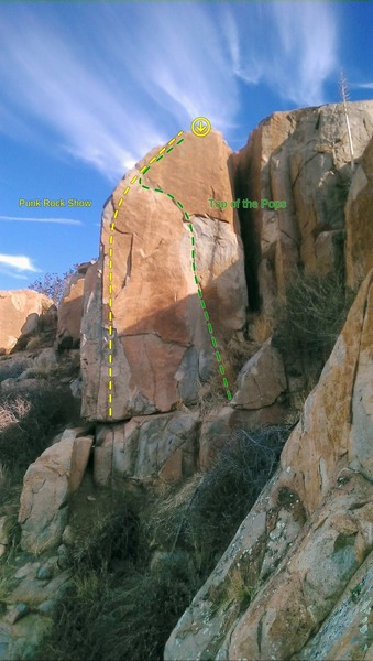 Rock Climbing Photo: Arete on the left is Punk Rock Show.
