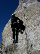 Rock Climbing Photo: Patty Black takes a turn on Country Trash.  March ...