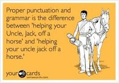 Dude, punctuation!
