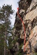 Rock Climbing Photo: The longest and most demanding line at Secret Lake...