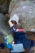 Rock Climbing Photo: The potential point on the top out where some may ...