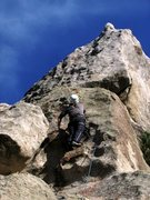 Rock Climbing Photo: Headin' up the bolted face finish of Pooh'...