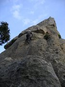 Rock Climbing Photo: Patty Black heading up Eeyore's Smile