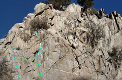 Rock Climbing Photo: sector 4 Capucin Left side - Rush area F. Block So...