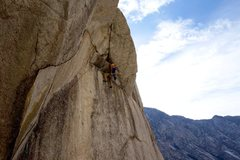 Rock Climbing Photo: Through the crux, now for the endurance!  Unfortun...