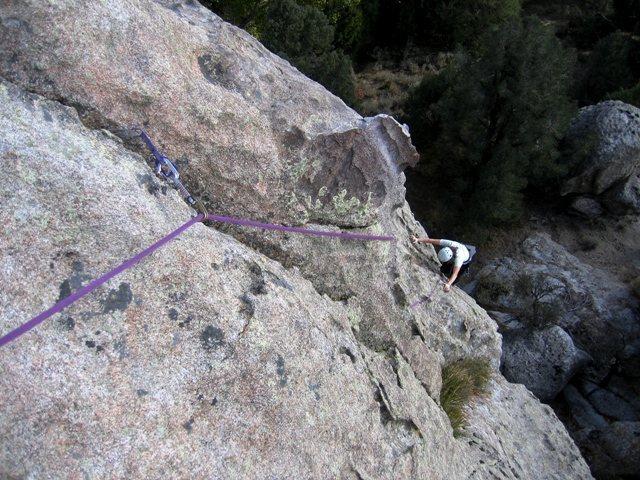 Rock Climbing Photo: Patty Black near the bottom of Bear Paw October 20...