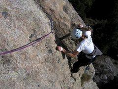 Rock Climbing Photo: Nearing the top of Bear Paw.  Patty Black followin...