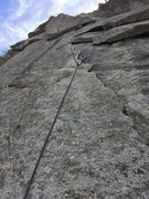 Rock Climbing Photo: The sweet flakes on pitch 3