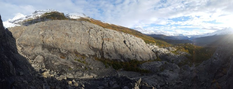 This crag contains highest concentration of moderate routes in Alaska.