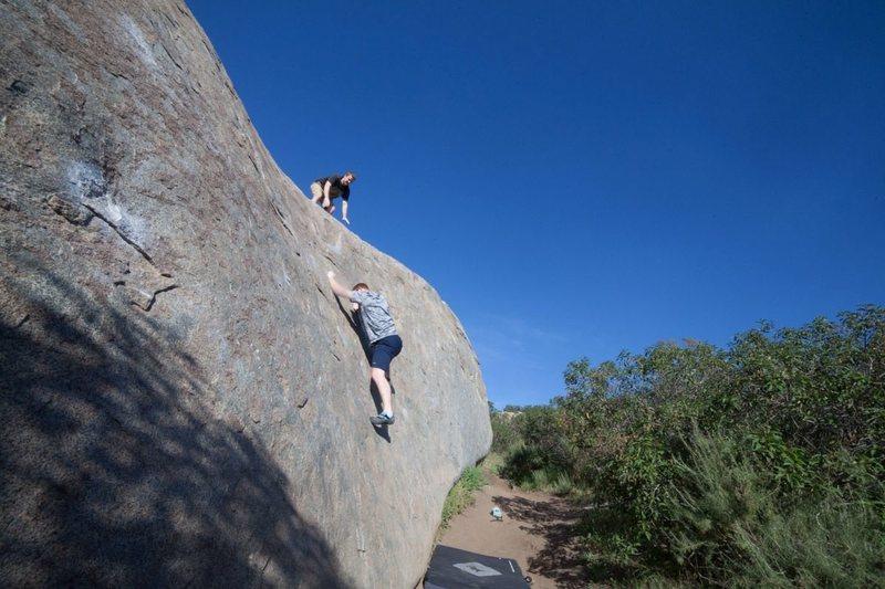 Rock Climbing Photo: santee boulders