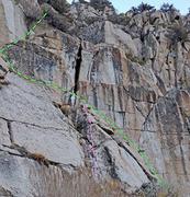 Rock Climbing Photo: Hand Traverse in sector 8 Cosmiques of Rush C. Han...