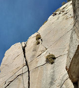 Rock Climbing Photo: SouthEast Roof route above the southeast crack -- ...