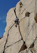 Rock Climbing Photo: Micheal DeNicola climbing Southeast Crack - sector...