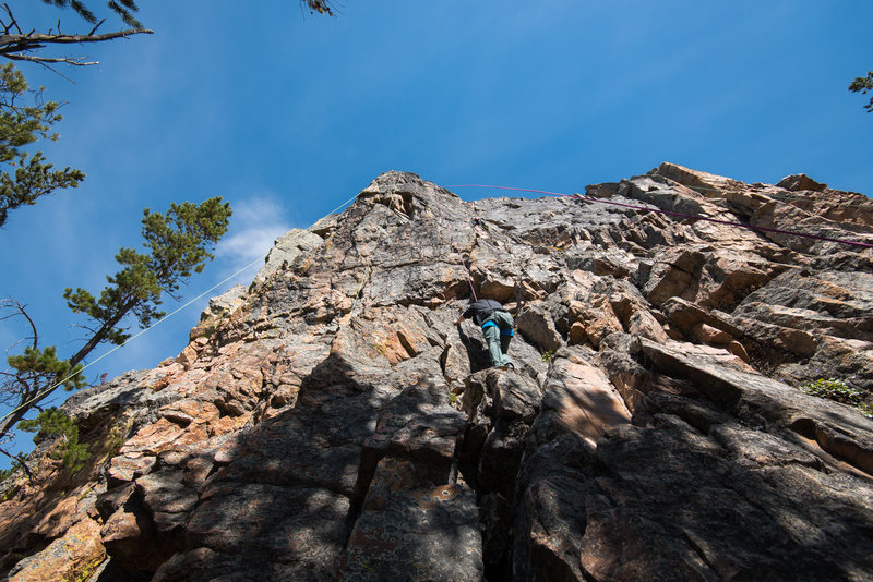 Rock Climbing Photo: Lower tier 'dish' routes