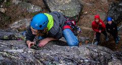 Rock Climbing Photo: Joseph on a recent ascent