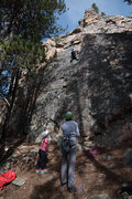 Rock Climbing Photo: Practice wall. Short but sweet.