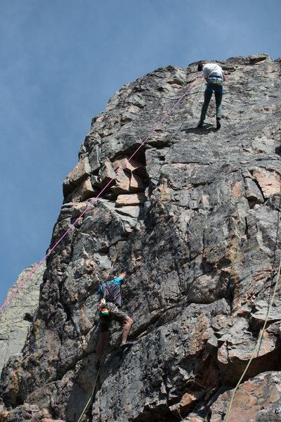 Rock Climbing Photo: Ben heading through the crux to the dish feature. ...