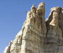 Rock Climbing Photo: Last pitch (on southeast side) topo