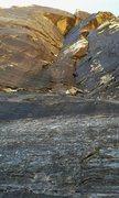 Rock Climbing Photo: Matt Reed leading 1st pitch (guide book 1&2) of Da...