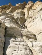 Rock Climbing Photo: Roy cruising pitch 1.