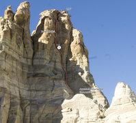 Rock Climbing Photo: Topo for Cruisin' for a Muezzin