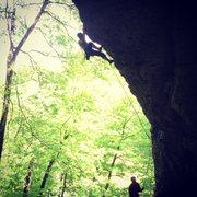 Rock Climbing Photo: Working Flash (5.11b) on a beautiful May weekend.