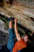 Rock Climbing Photo: Alternate beta to the start to the Unnamed Roof Pr...