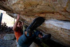 Rock Climbing Photo: Jon Hamilton Jared's Traverse V10 Satellite Bo...
