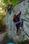 Rock Climbing Photo: Biker Crack V4 Emma Walker.
