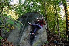 Rock Climbing Photo: Egg's Left Arête V4 Emma Walker.