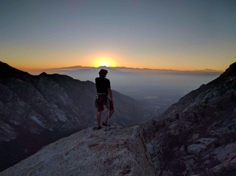 Rock Climbing Photo: Couldn't have timed the summit any closer to n...