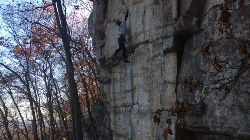Rock Climbing Photo: sticking the dyno to the top