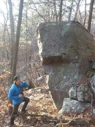 Rock Climbing Photo: Cool boulder. Right arete was a bit above my pay g...